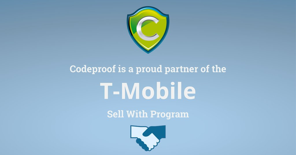 Codeproof and T-Mobile partnership graphic